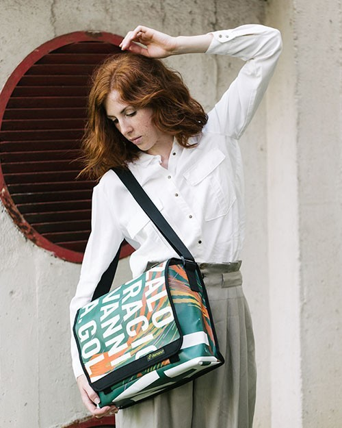 Recycled  bags made from Barcelona banners