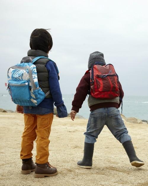 Upcycled backpacks for kids